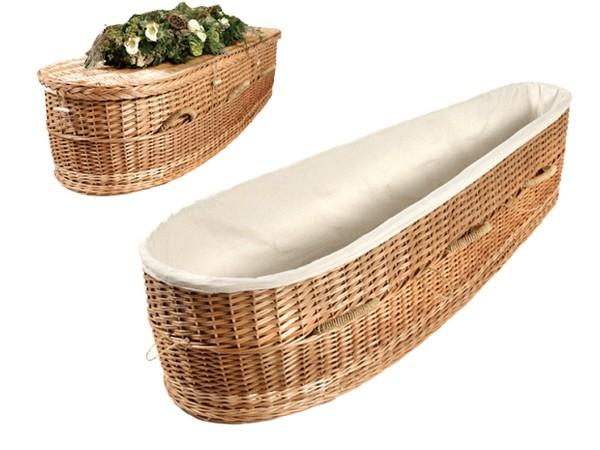Willow Wicker Woven Coffin